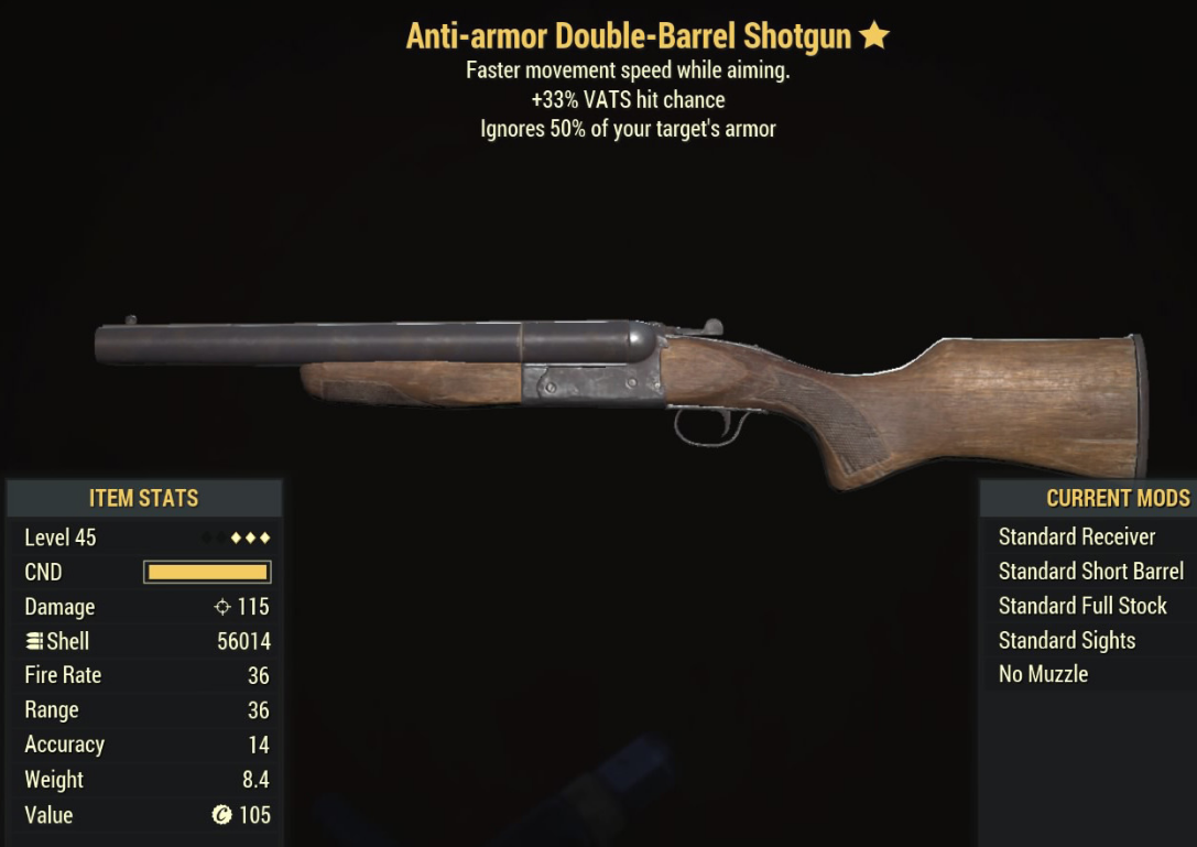 Anti-armor Double-Barrel Shotgun - Level 45