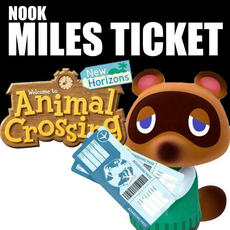 Animal Crossing New Horizons 100 Nook Miles Tickets fast delivery
