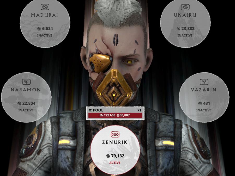 MR26,230 000 Endo,2100 platinum,28 000 000+credits,42Warframes (25prime,18deluxe12TennoGen skins)