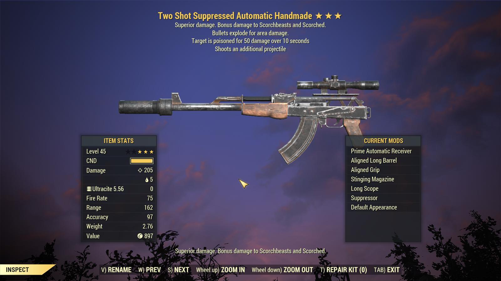 Two Shot Explosive Handmade Poison Damage