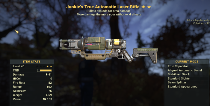 Junkie's Explosive Laser Rifle [Not Ultracite]