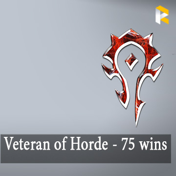 Veteran of the Horde - 75 RBG wins