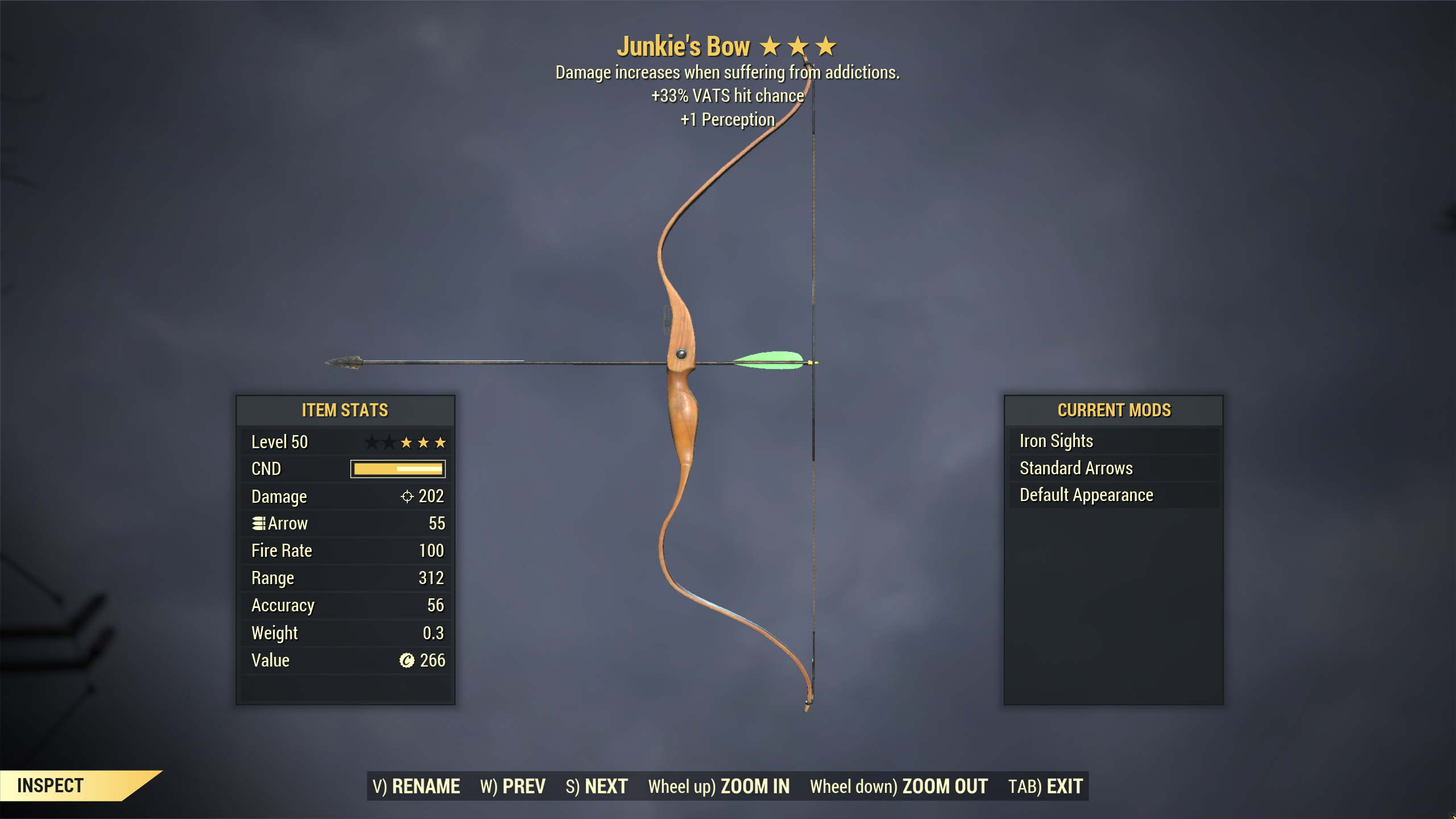 ★★★ Junkies Bow[33% VATS Hit Chance] | FAST DELIVERY |