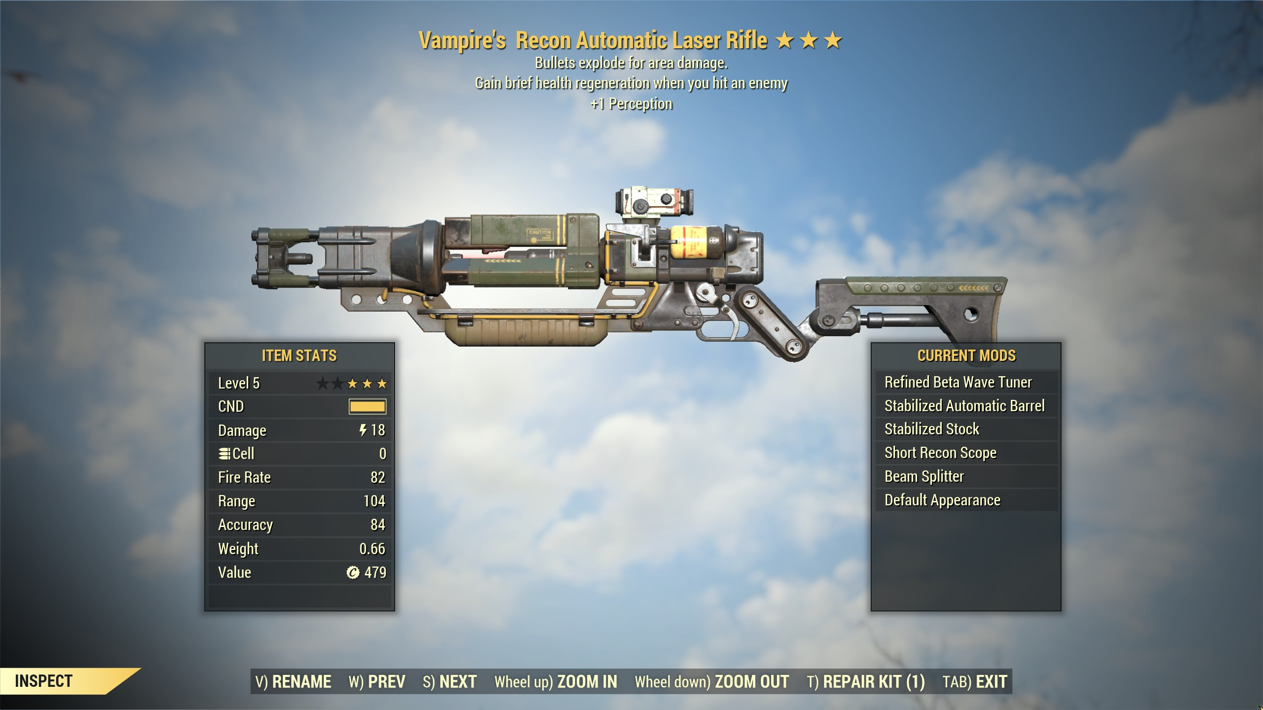 [LVL5] Vampires Explosive Laser Rifle | FAST DELIVERY |