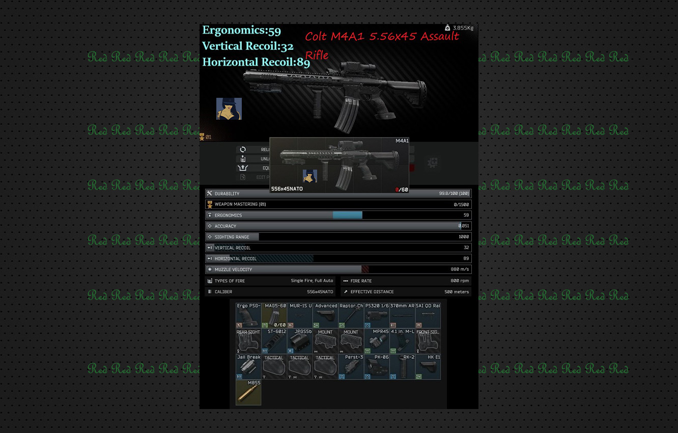 Best Weapon pack #1 (Premoded) M4a1 / m1a / Sa-58 x3 (9 Weapons Flea Market)