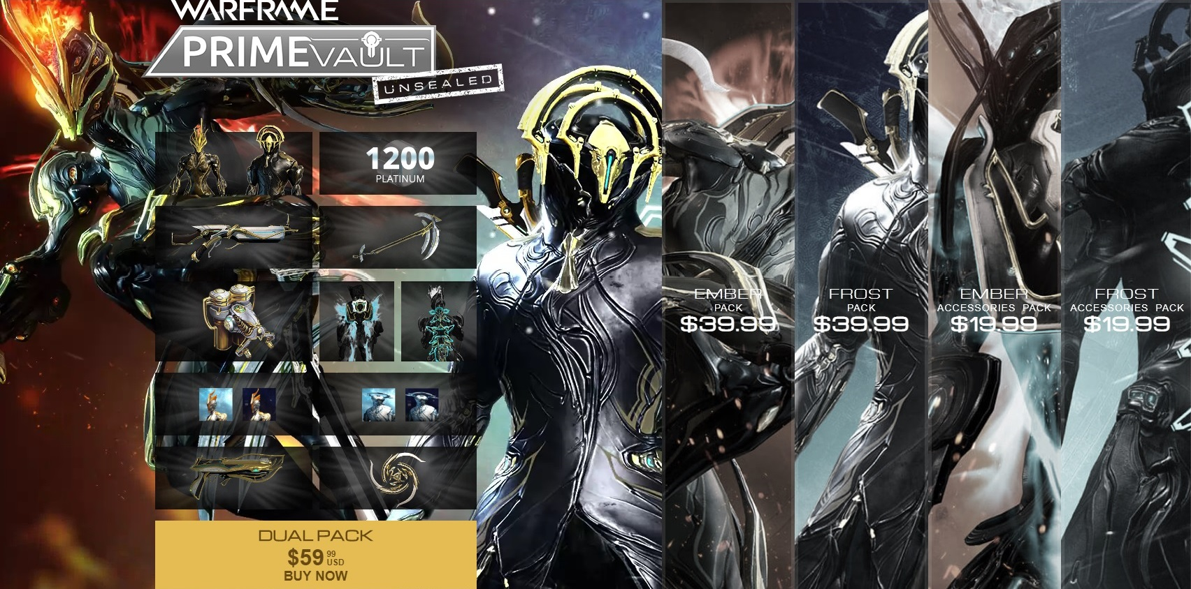 Ember PRIME & Frost PRIME Dual Pack - Before buy see MORE INFO