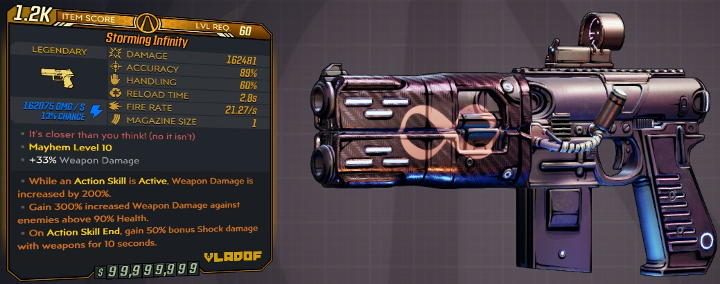 ★★★[PC] M10/L60 - INFINITY 162400 DMG (+162k SHOCK DMG) INSANE 21.27 FIRE RATE - ANOINTED x2★★★