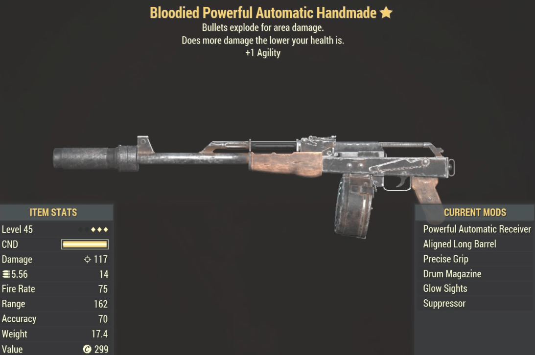 Bloodied Powerful Automatic Handmade - Level 50