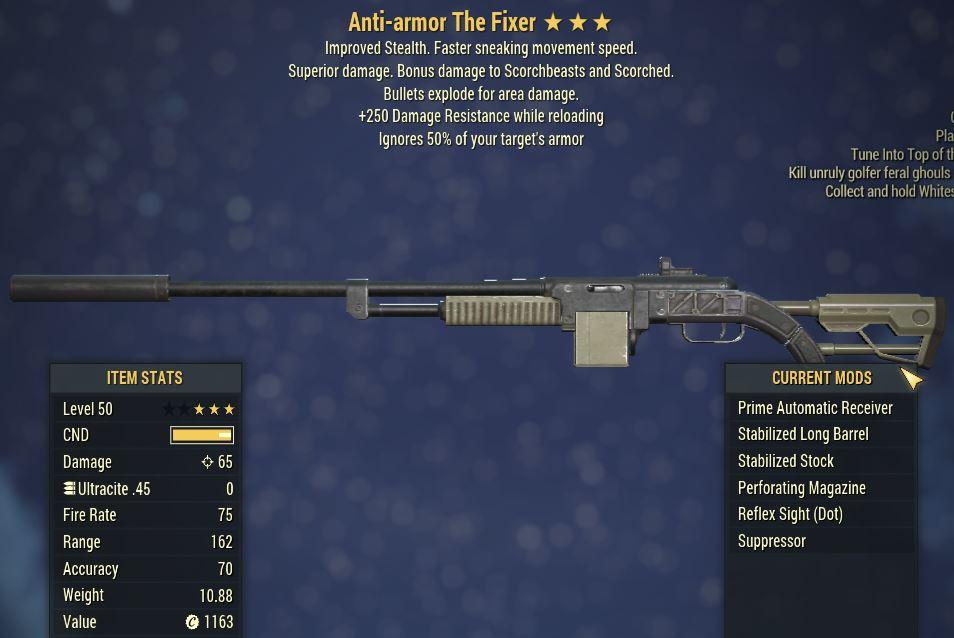 [PC] Anti-Armor Explosive The Fixer [+250 DMG Resistance]