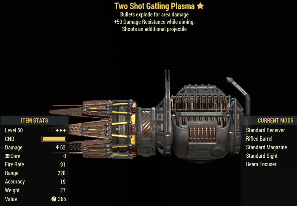 Two Shot Gatling Plasma- Level 50