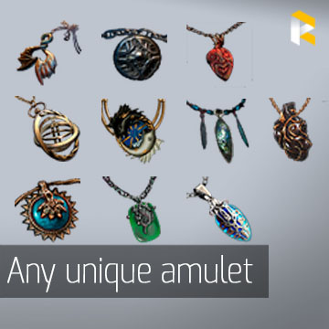 Any unique amulet - read description
