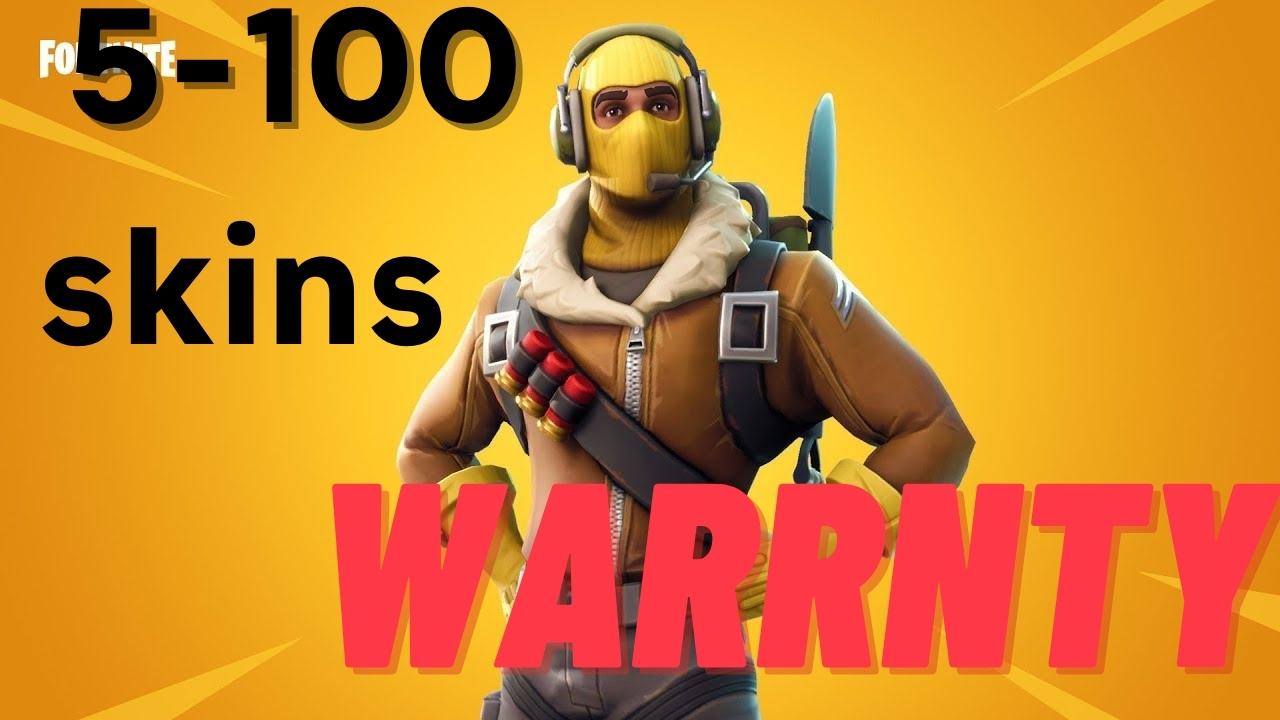 fortnite Account 5-100 skins {Warranty}
