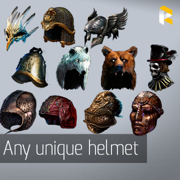 Any unique helmet - read description