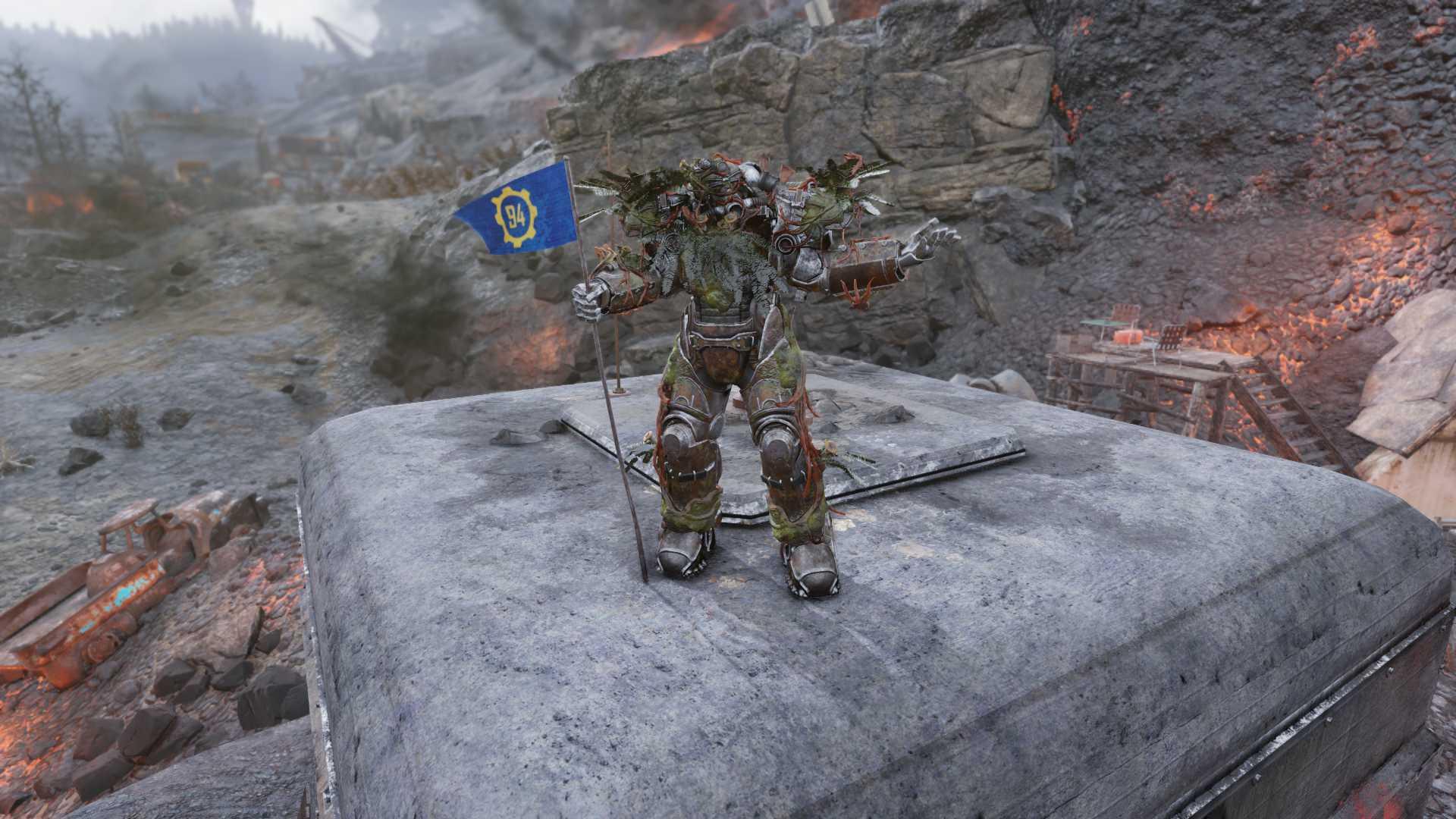 Unyielding Sentinel Power Armor Strangler Heart FULL MODS (6/6 FULL AP REFRESH)