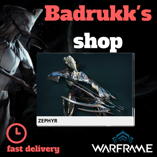[PC/Steam] Zephyr Warframe + Slot + Orokin Reactor // Fast delivery!