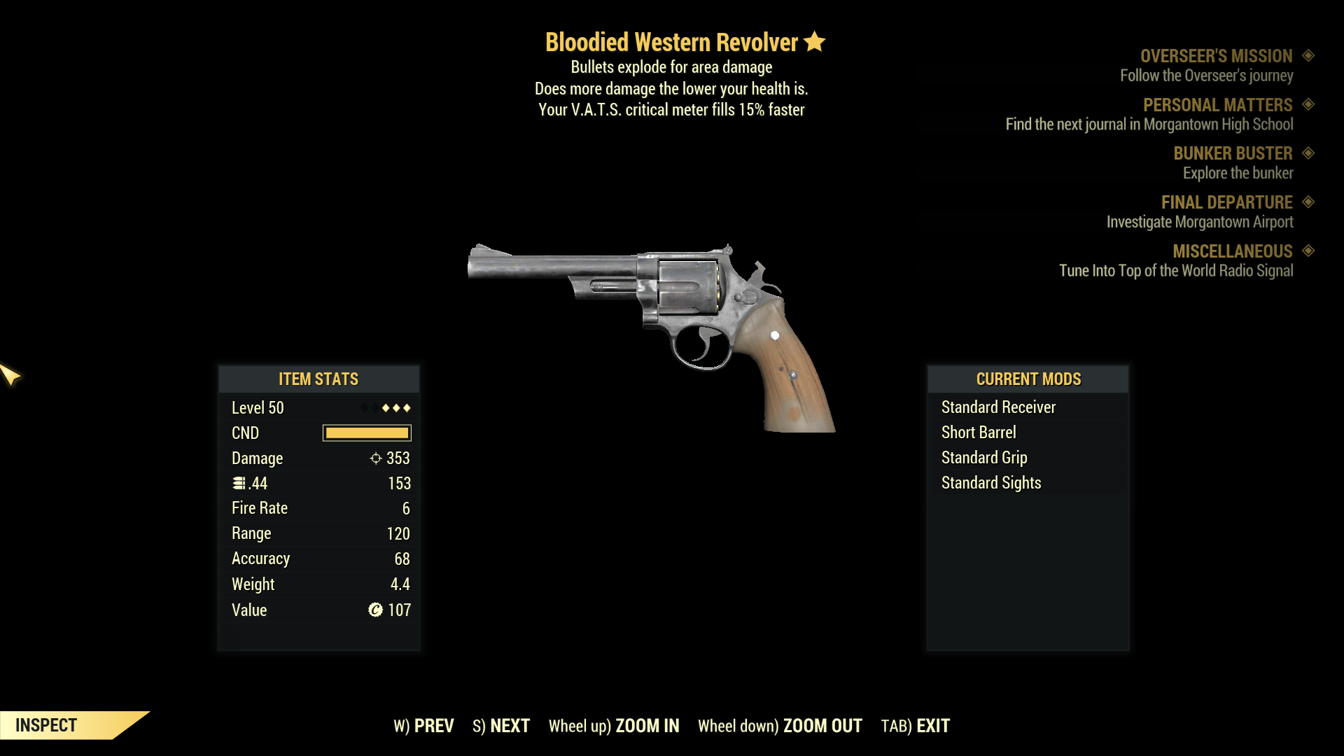 ★★★ Bloodied Explosive Western Revolver[15% VATS Crit] | FAST DELIVERY |
