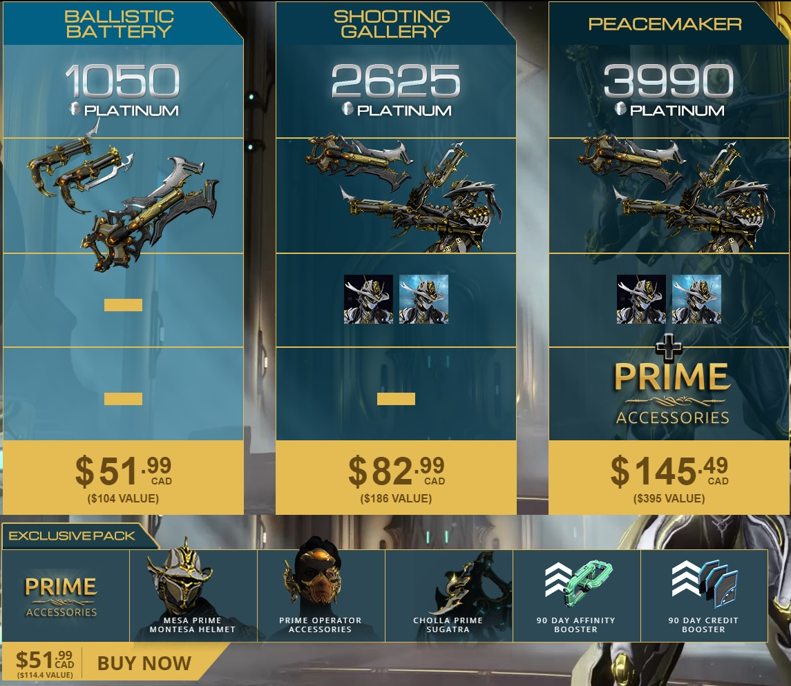 Mesa Prime Access: Peacemaker - Before buy see MORE INFO