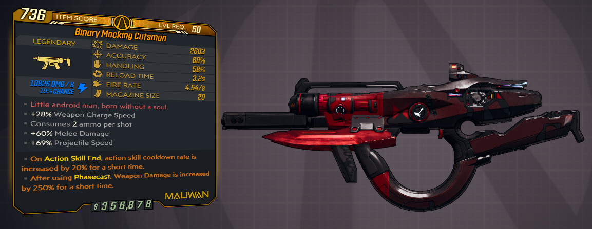 ★★★[PC] BINARY MOCKING CUTSMAN 2.600 DMG (+10.000 SHOCK) - ANOINTED x2★★★