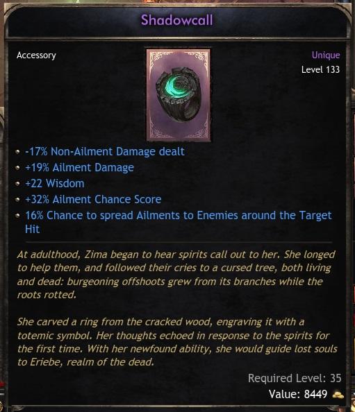 Unique Ring Shadowcall