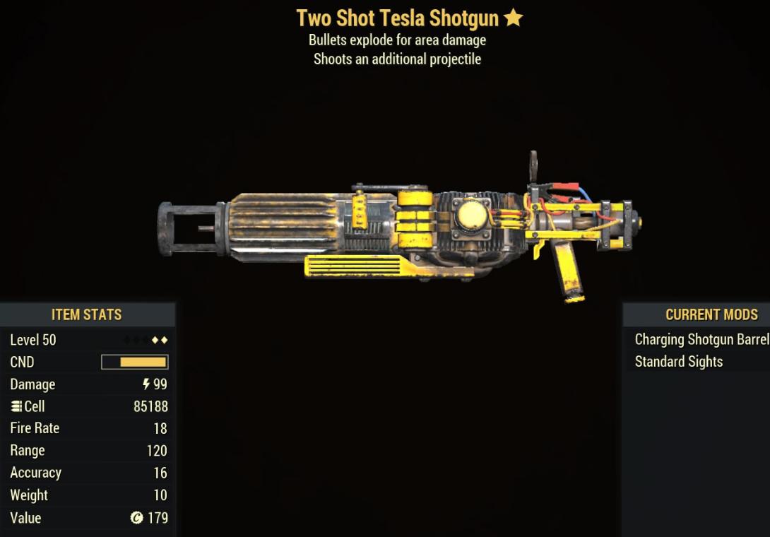 Two Shot Tesla Shotgun - Level 50