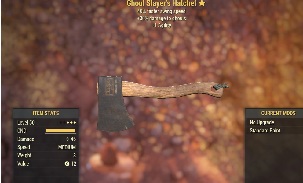 Ghoul Slayer's Hatchet - Level 50