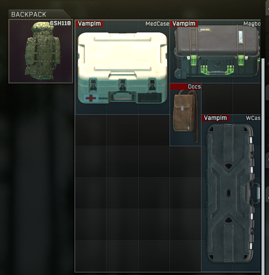 Raid in lab Med case+docs case+mags case+weapon case (see the image)