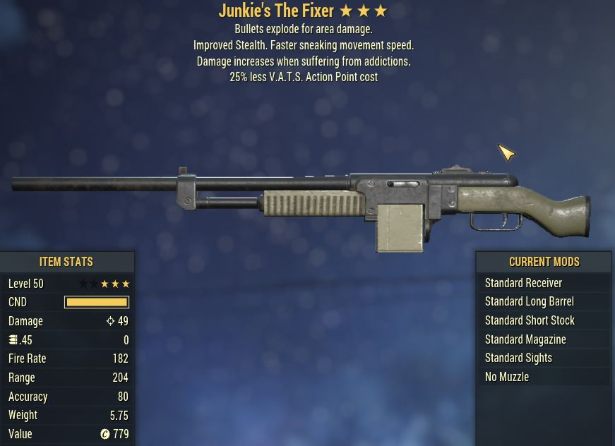 [PC] Junkie's Explosive The Fixer [25% Less Vats AP]
