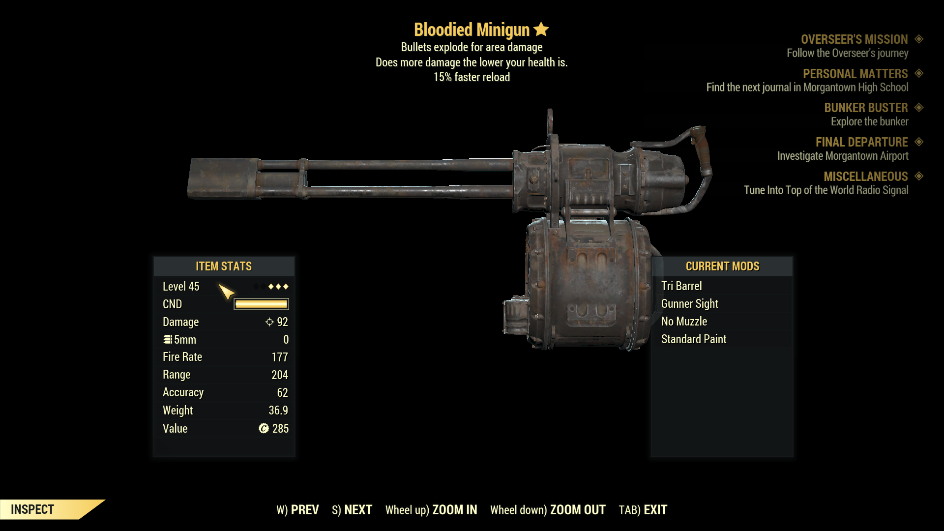 ★★★ Bloodied Explosive Minigun[15% Faster Reload] | FAST DELIVERY |