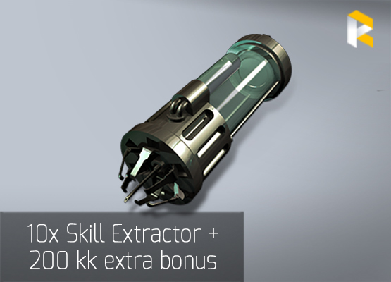 10 x Skill Extractor + 200 kk extra bonus - fast & safe