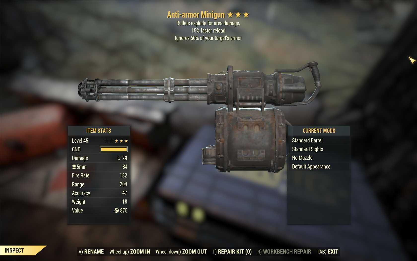 Anti-Armor Explosive Minigun (15% faster reload)