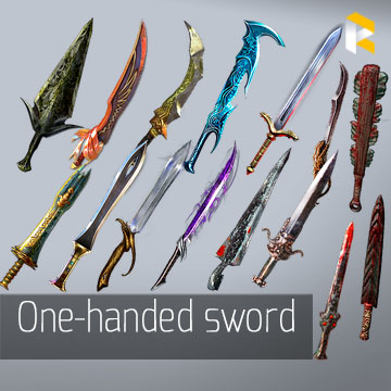 Any unique one-handed sword - read description