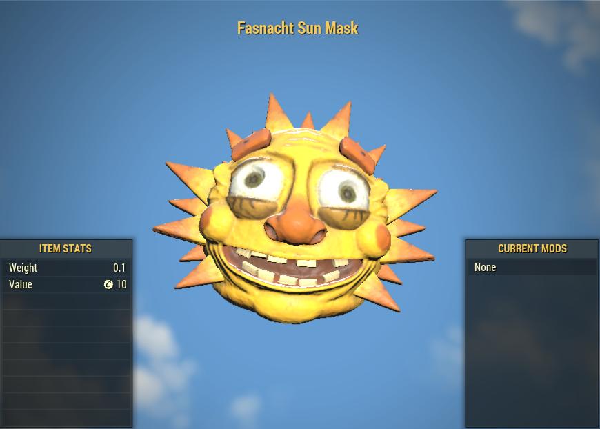 Fasnacht Sun Mask