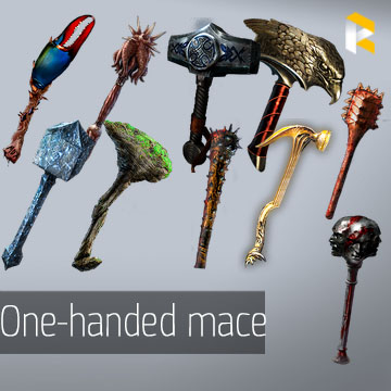 Any unique one-handed mace - read description