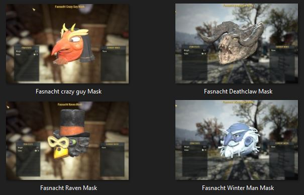 (PC) All RARE Fasnacht Masks bundle
