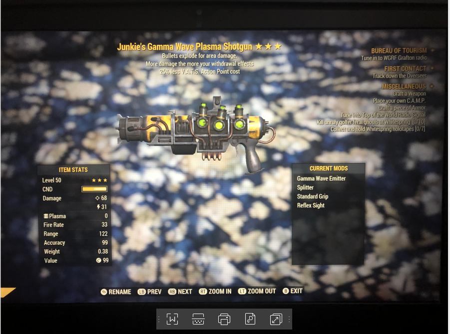 Junkie's Explosive Gamma Gun [25% less VATS]