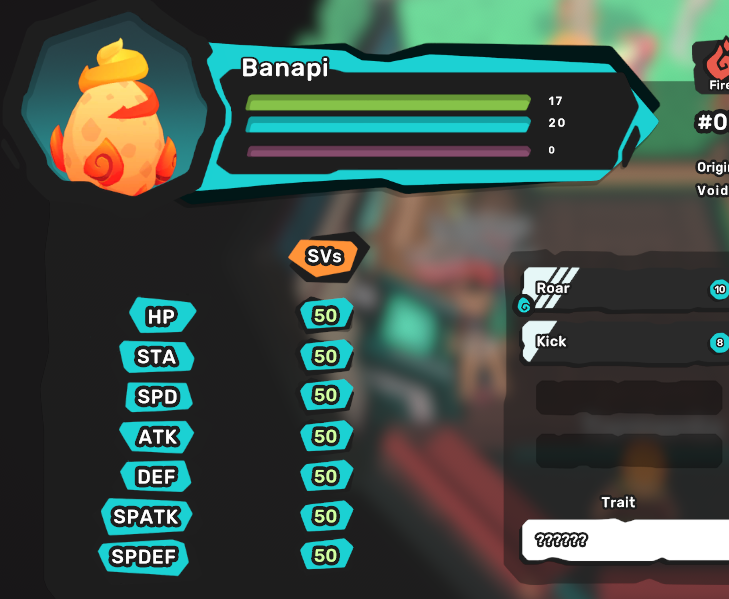 Banapi Egg - Perfect SVs 7/7 - All Egg Move - Chance at Luma - Your Own Original Tamer Name