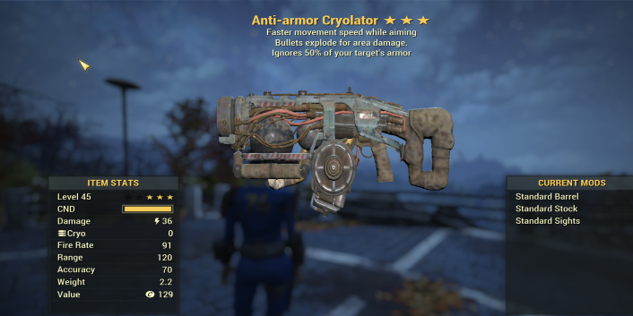 Anti-Armor Explosive Cryolator + fast Aim