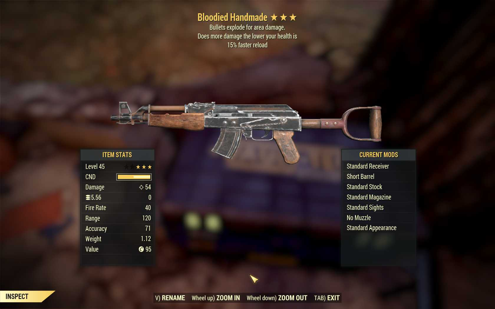 Bloodied Explosive Handmade (15% faster reload)