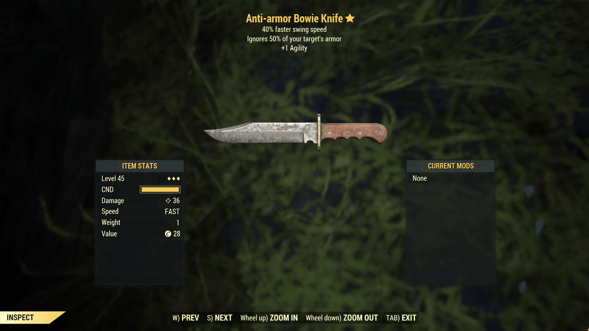 ★★★ Anti-Armor Bowie Knife[40% Faster Swing][+1 AGI]   FAST DELIVERY  