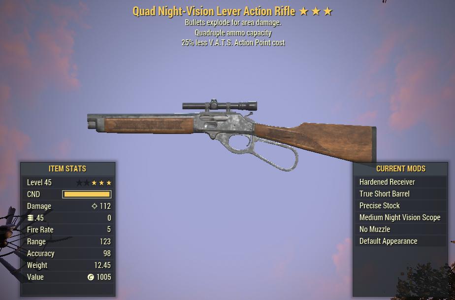 Quad Explosive Lever Action Rifle 25% Less vats