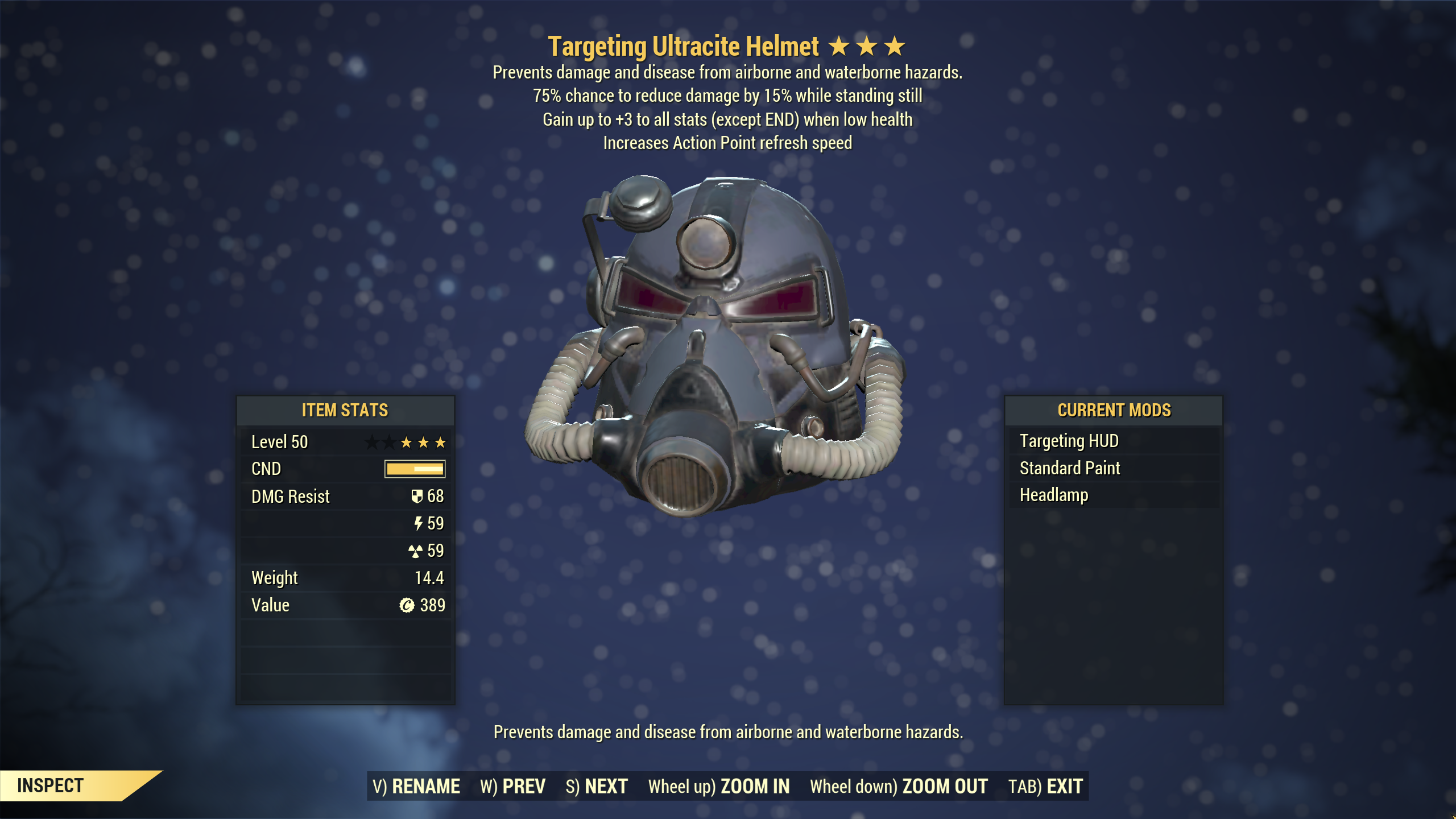 ★★★ Unyielding Sentinel Ultracite Power Armor[6/6 AP Refresh]   FULLY MODDED   FAST DELIVERY  