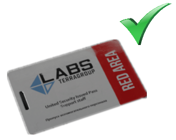Lab. Red Keycard (Security Arsenal) + Lab. key. Manager office  key bonus