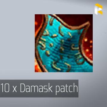 10 x Damask patch