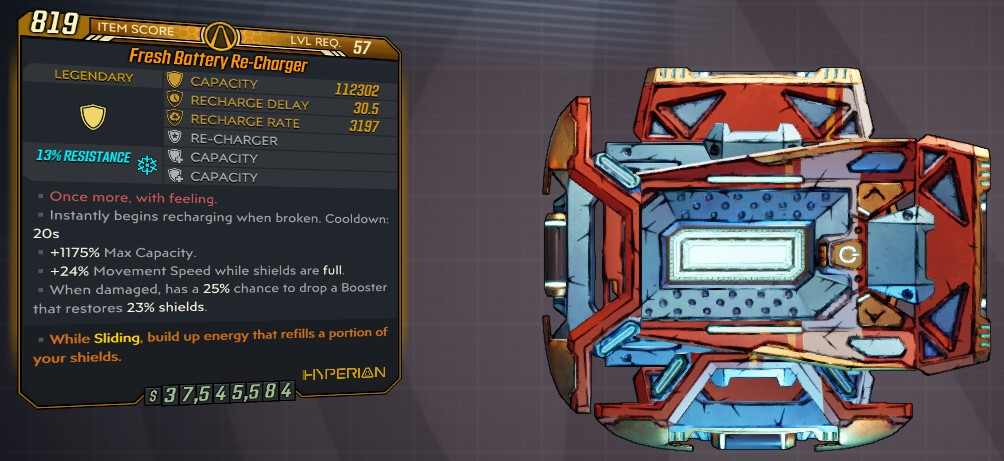 ★★★[PC] M10 - RE-CHARGER 112.000 SHIELDS (24% MOVE SPEED ON FULL SHIELDS, 25% SHIELD BOOSTER★★★