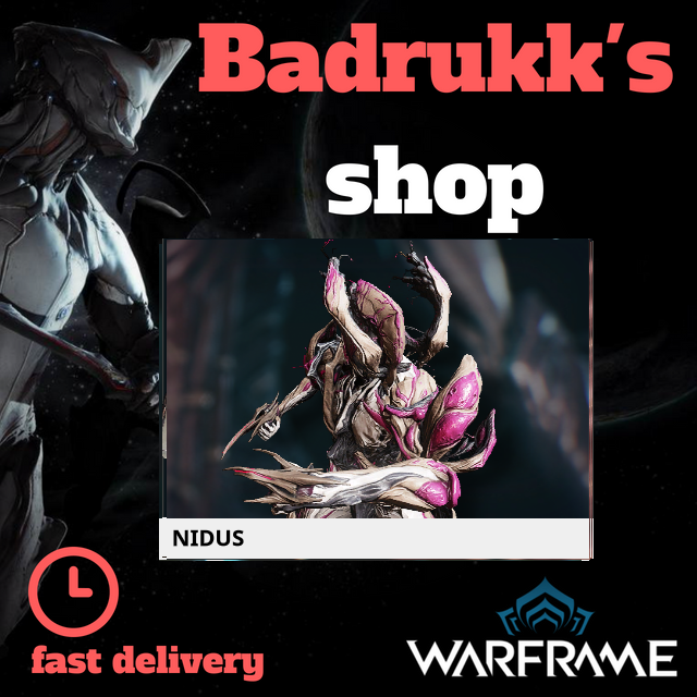 [PC/Steam] Nidus Warframe + Slot + Orokin Reactor // Fast delivery!