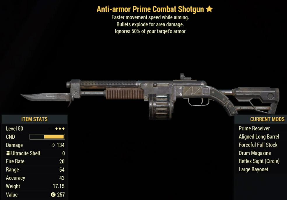 Anti-Armor Prime Combat Shotgun- Level 50