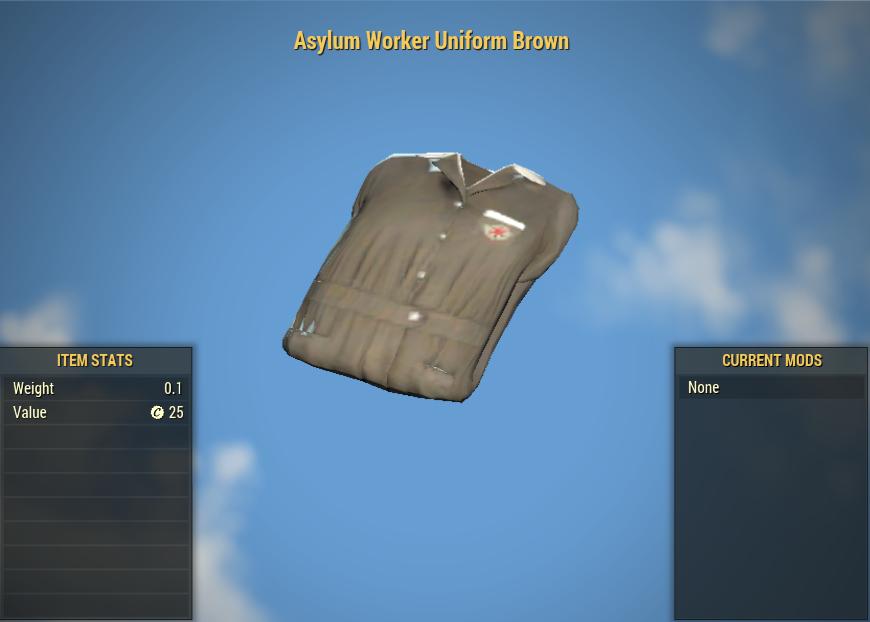 Asylum Worker Uniform Brown