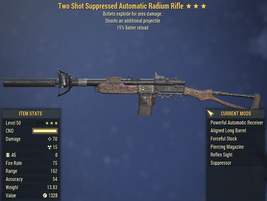 [PC] 2Shot Explosive Radium Rifle [15FR]