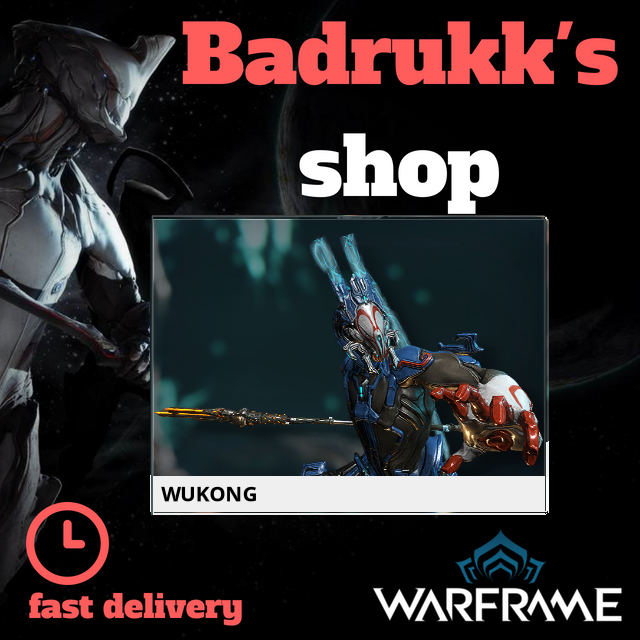 [PC/Steam] Wukong Warframe + Slot + Orokin Reactor // Fast delivery!