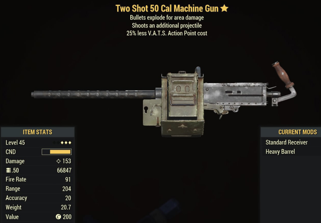 Two Shot 50 Cal Machine Gun - Level 45 (3)
